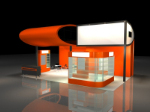 Orange kreative Halle 3D-Modell