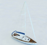 3D-Modell Luxus-Yacht