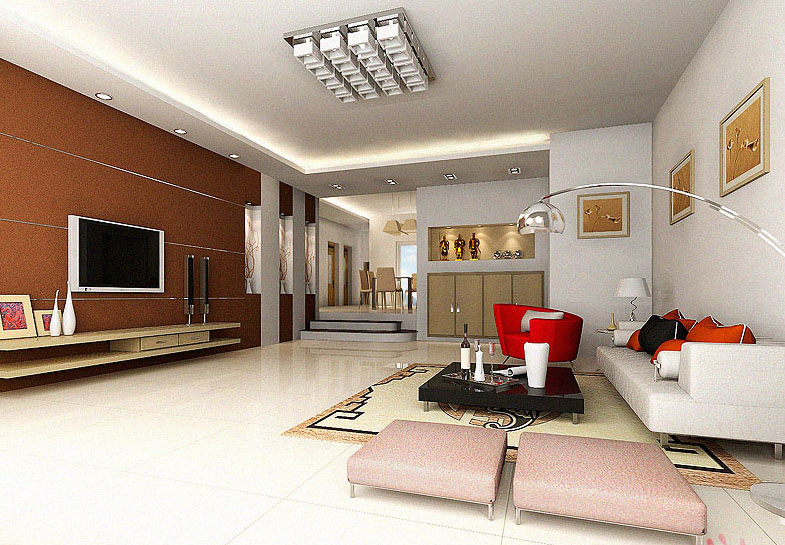 brown gro z gige und sch ne wohnzimmer 3d model download free 3d models download. Black Bedroom Furniture Sets. Home Design Ideas
