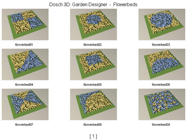 blumen mosaik modelings garten 3d model download free 3d models download. Black Bedroom Furniture Sets. Home Design Ideas