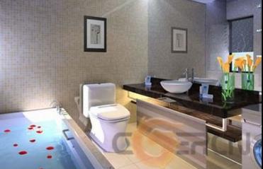 Elegant 3d Modell Eines Modernen Elegantes Badezimmer 3d Model Download, Badezimmer  Ideen